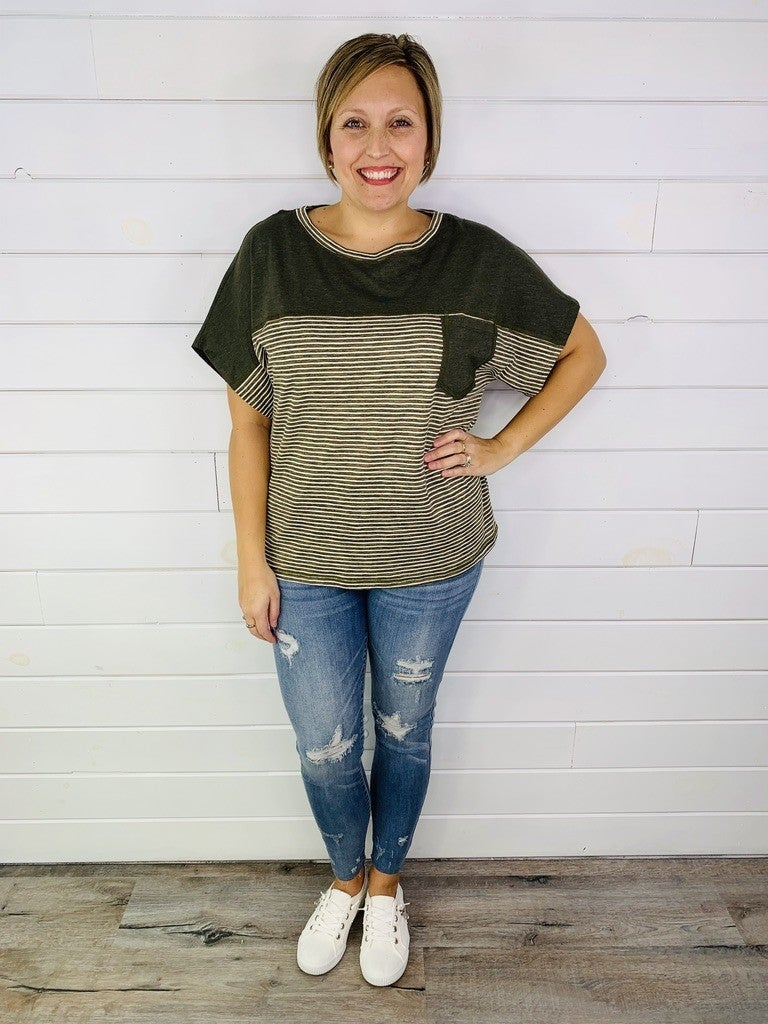 PLUS/REG Basic B Super Soft Tee With Pocket--2 Colors!