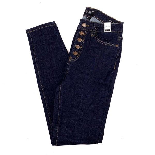Judy Blue Dark Wash Button Fly Skinny Jeans