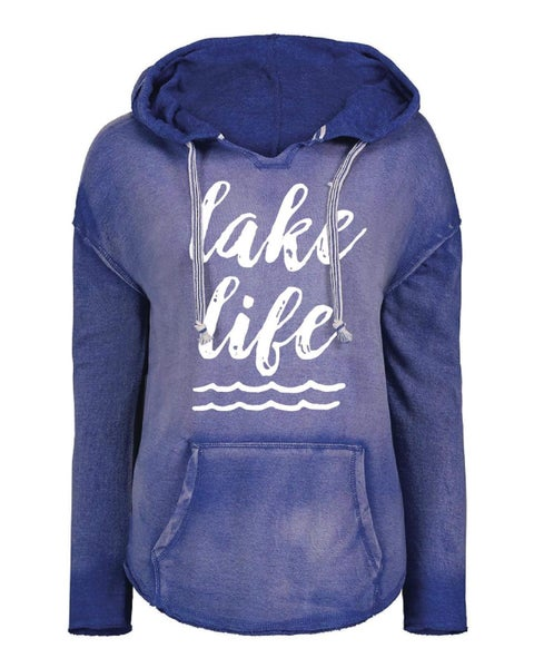 PREORDER Plus/Reg Lake Life Hooded Pullover--2 Colors