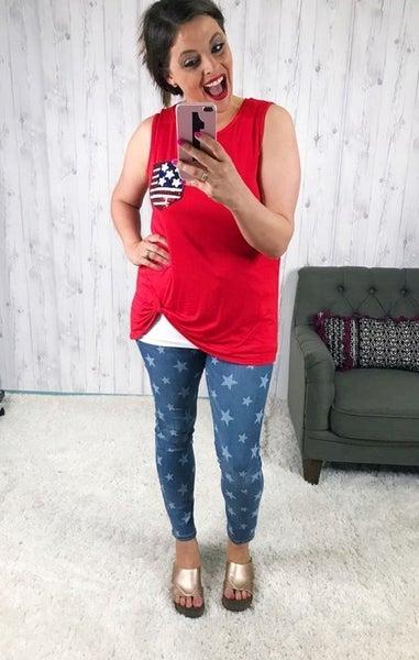 Judy Blue Star Print Skinny Jeans