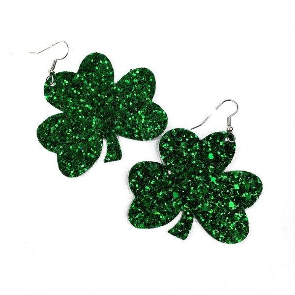 Dangle Shamrock Earrings-- TWO Colors!