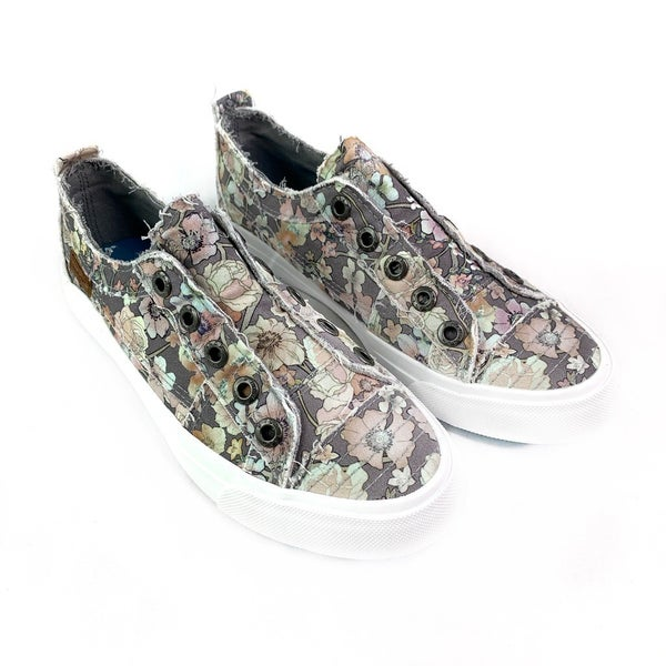 RESTOCK! Blowfish Grey Floral Slip On Sneaker