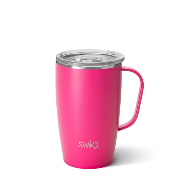 Solid 18 oz Insulated Mugs