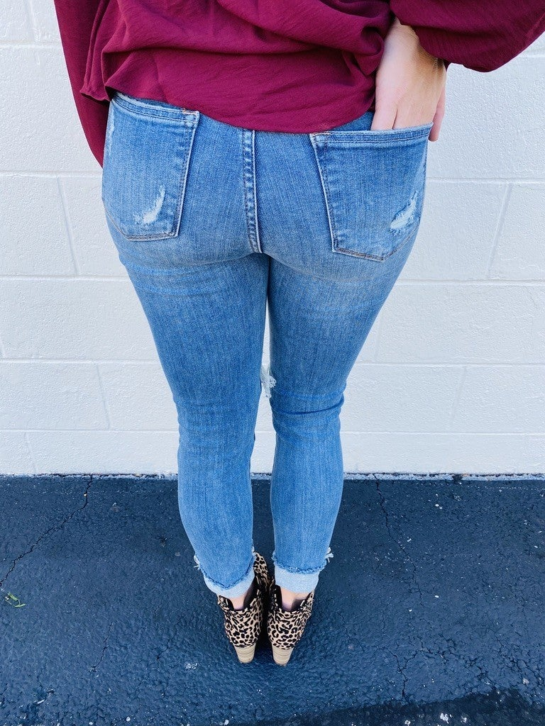 Judy Blue Plus/Reg Fall and Chill Skinnies