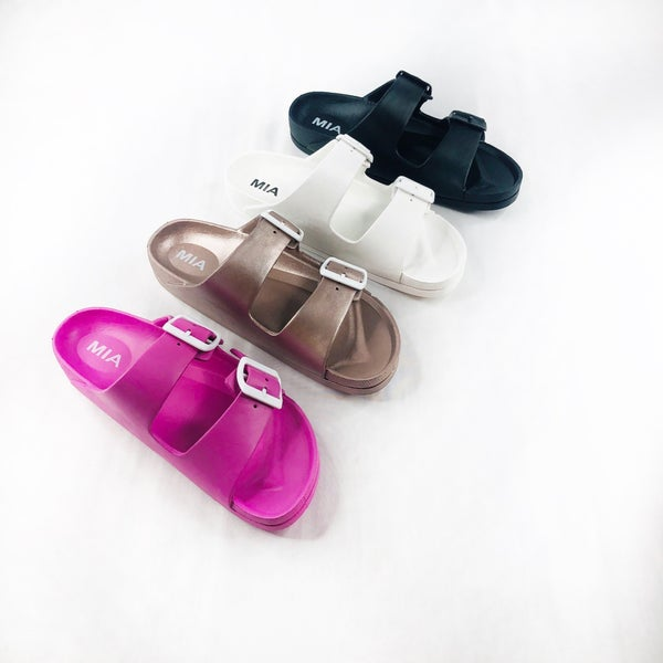 DOORBUSTER Double Buckle Wear Everywhere Sandal - 4 Colors!