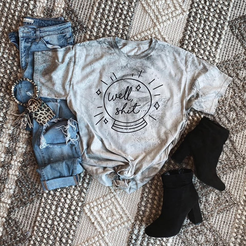 PREORDER Plus/Reg Well, S**t Mineral Washed Tee