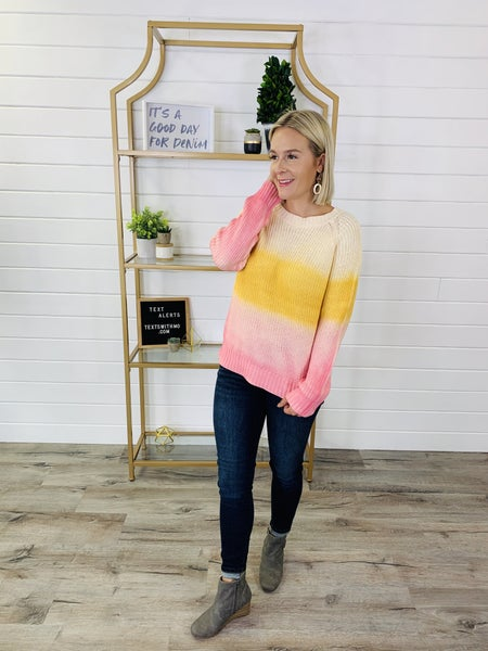 Don't Let The Ombre Go Sweater