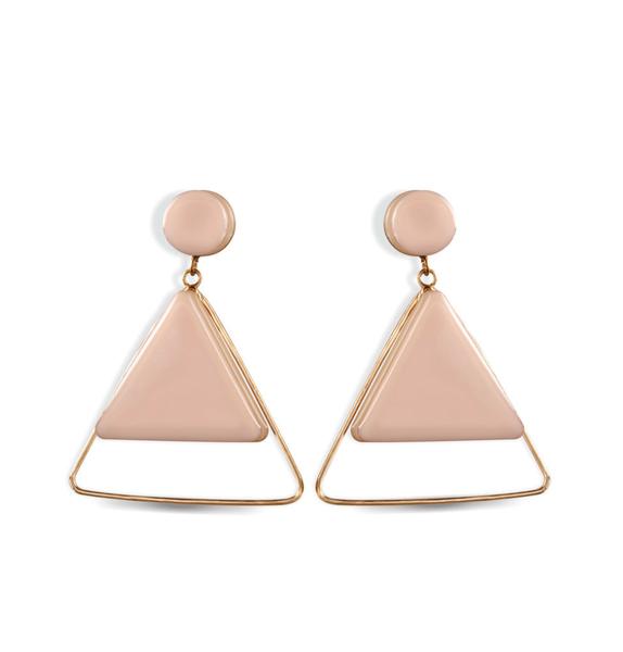 Myra- Pink Triangle Shaped Earring