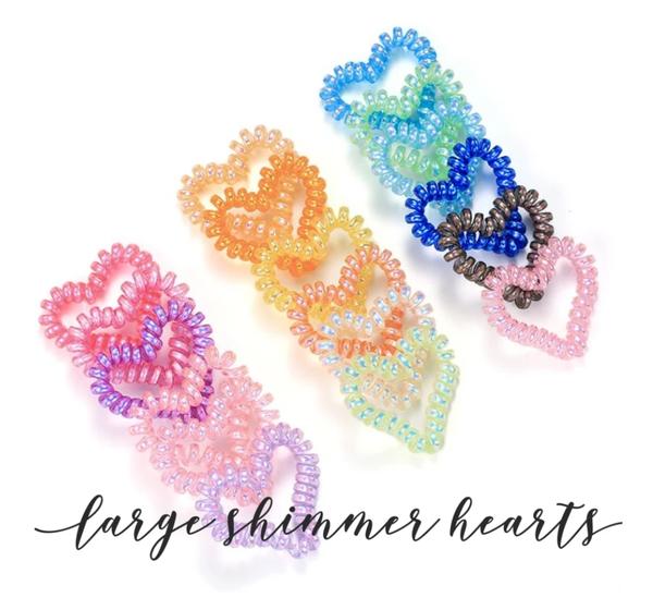Shimmer Heart Hair Coils