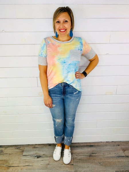 Judy Blue Place In The Sun Straight Fit Jeans