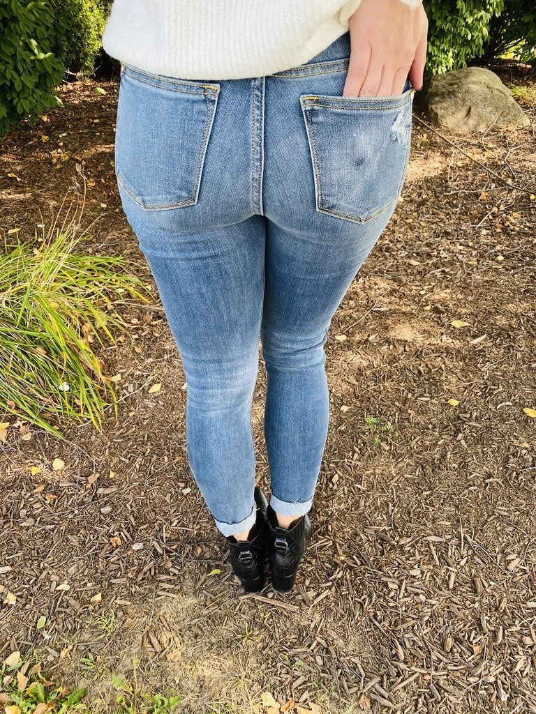 PLUS/REG Judy Blue Press the Pause Button Fly Skinnies