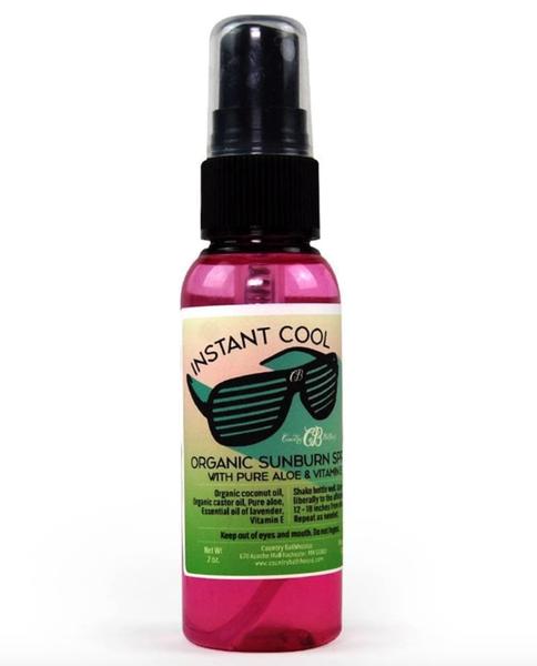 Instant Cool Organic Sunburn Spray