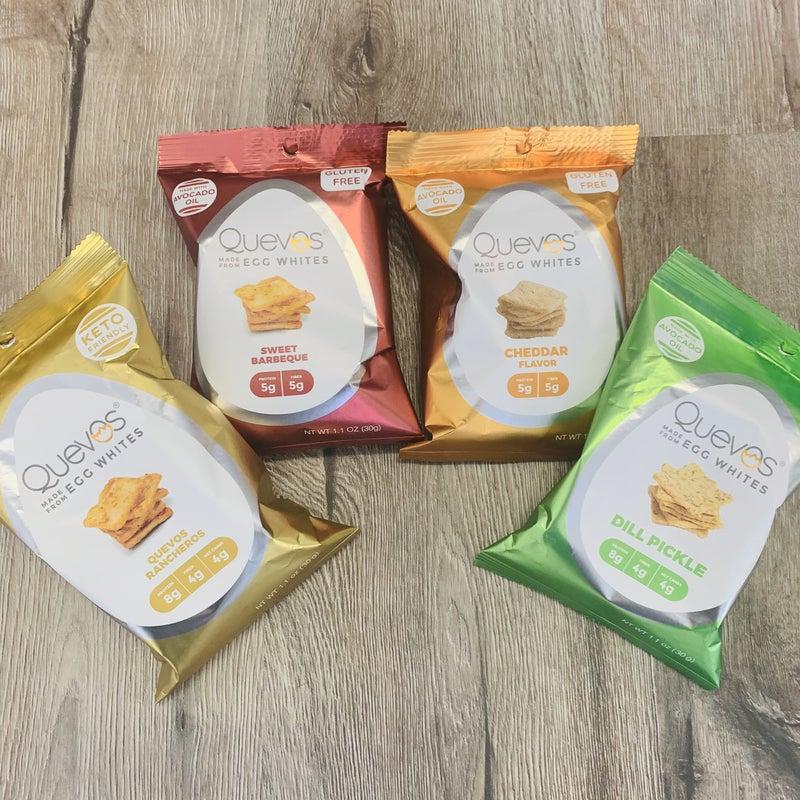 Quevos Egg White Chips- 5 Flavors!