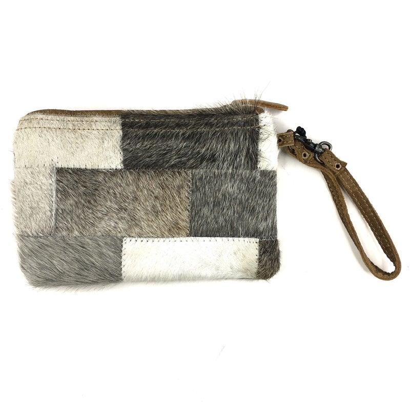 Myra Bag Silver Brick Pouch Wristlet