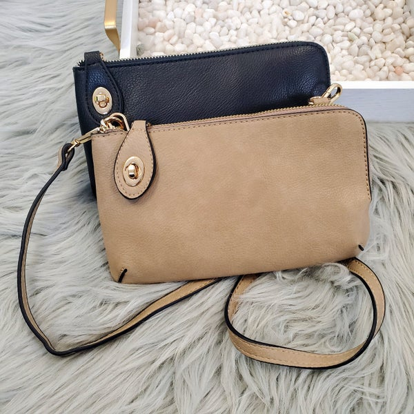 Solid Crossbody With Wristlet- 3 Colors!