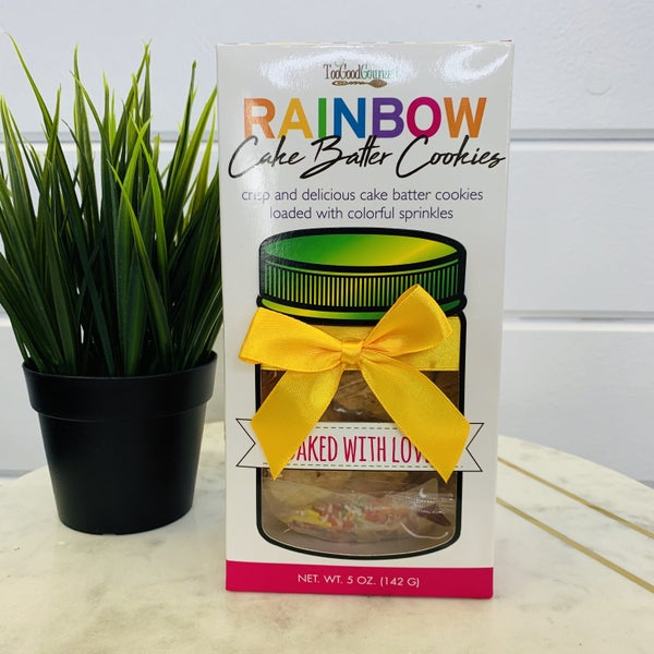 Rainbow Cake Batter Cookies