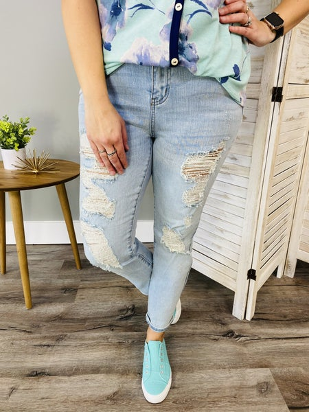 PLUS/REG Judy Blue Be My Boyfriend Jeans