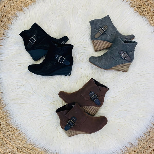 Blowfish Buckle Booties- 3 Colors!