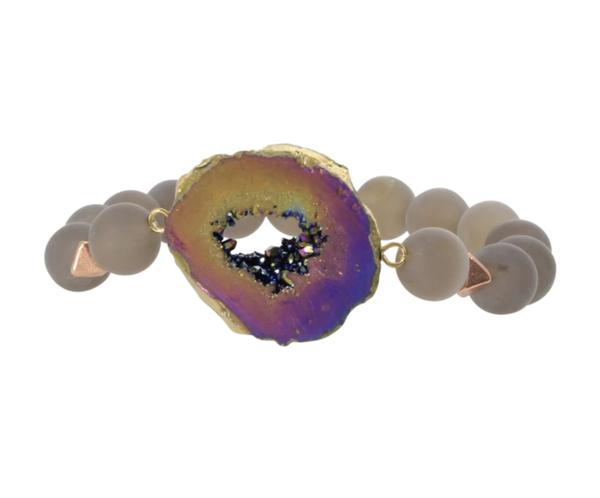 Erimish Stone and Beaded Bracelet