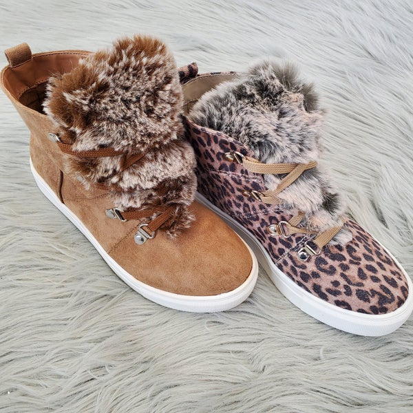 Very G Boots with the Fur Sneakers- 2 Colors!