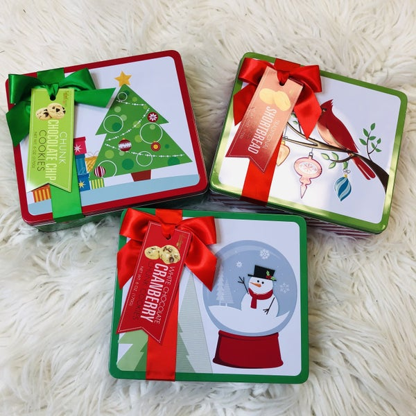 Christmas Collector Cookie Tin- 3 Flavors!