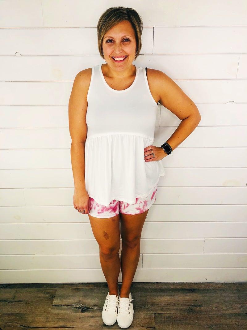 PLUS/REG Judy Blue TIE DYE MANIA Stretchy Denim Shorts--THREE Colors!