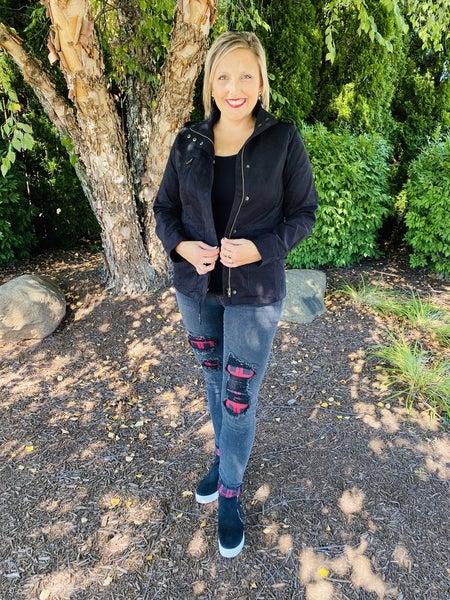 PLUS/REG DOORBUSTER! Judy Blue Plaid is the New Black Skinny Jeans