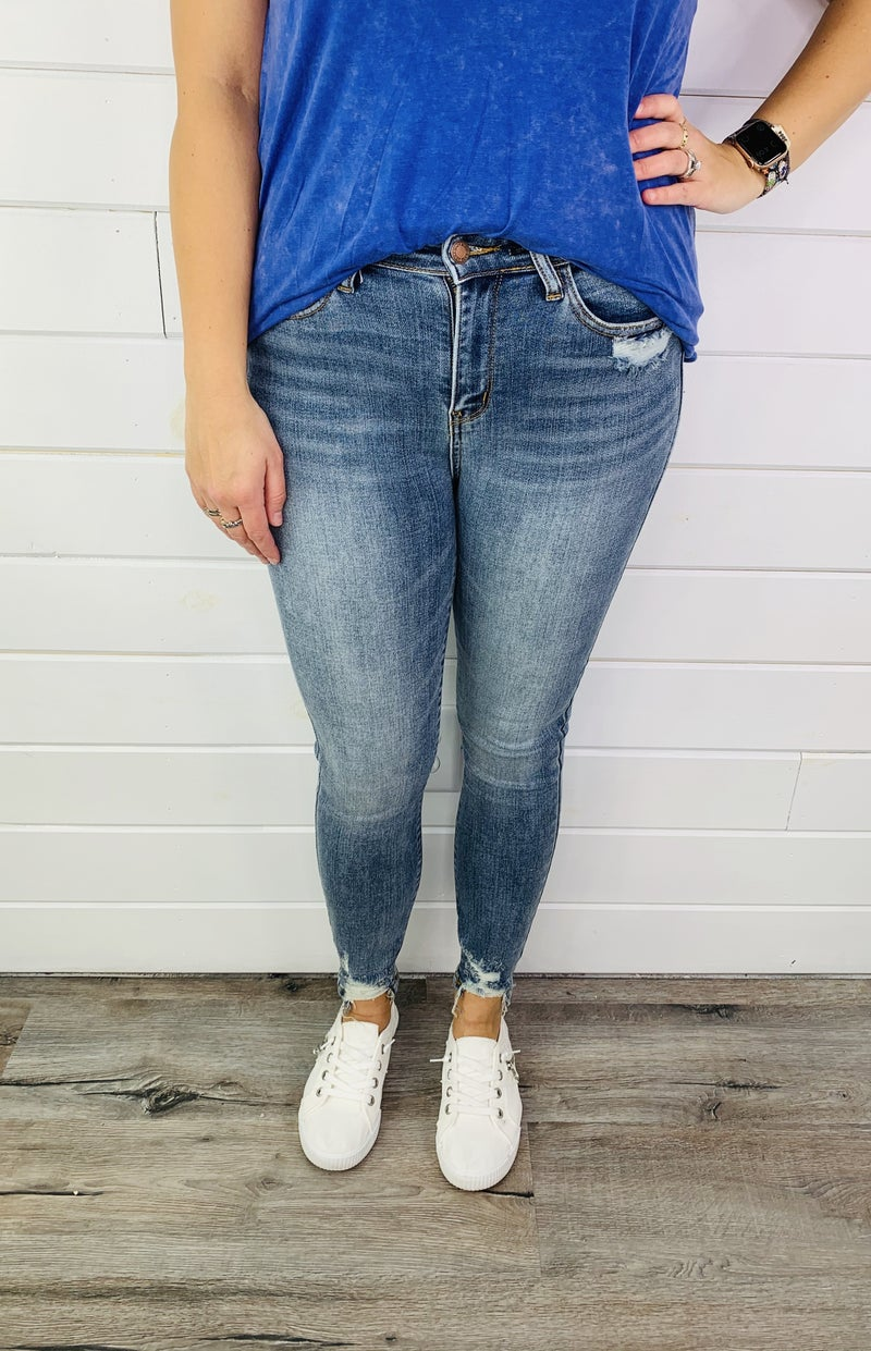 PLUS/REG Judy Blue Unicorn Magic Skinny Jeans