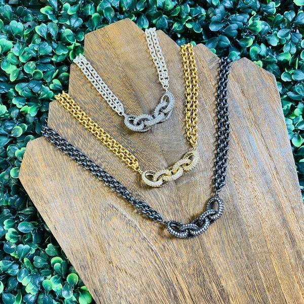 Karli Buxton Double Chain Linked Necklace