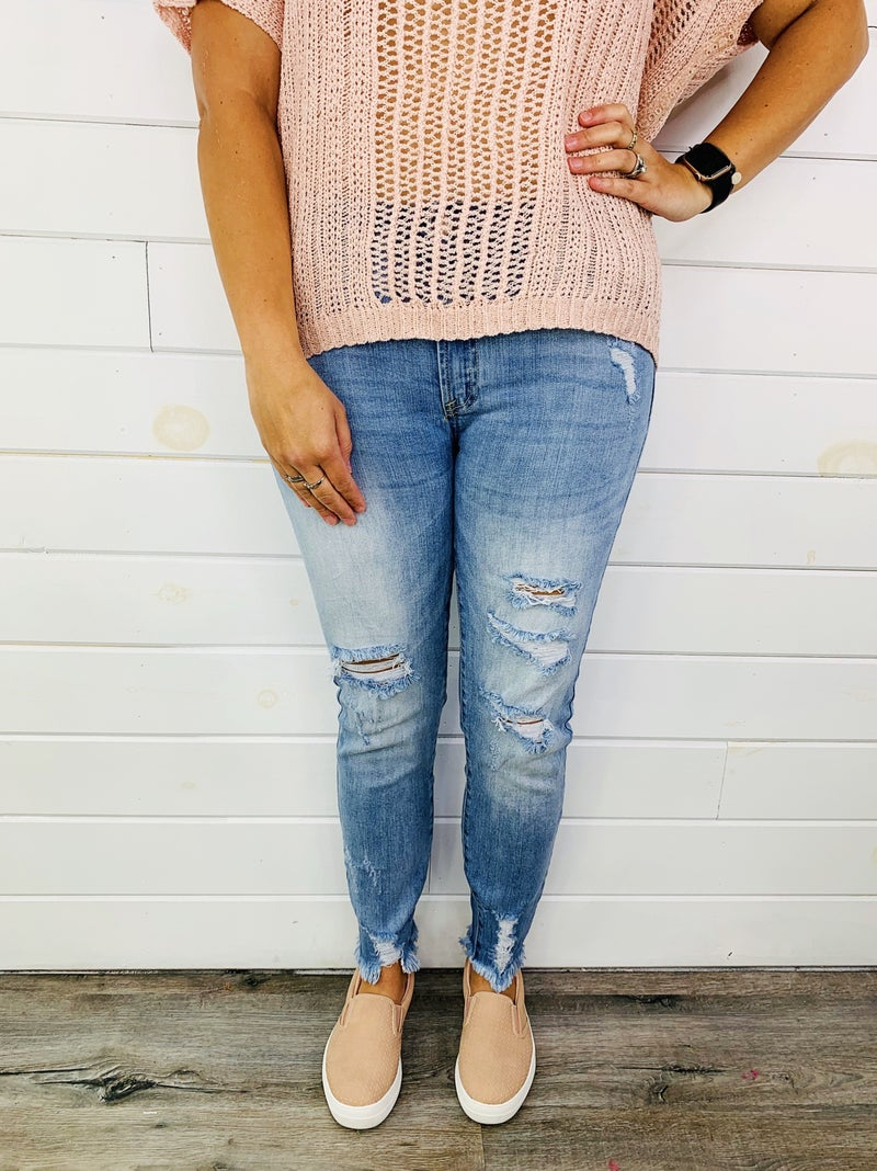 Tricot (by C'est Toi) Summer Breeze Light Wash Skinnies