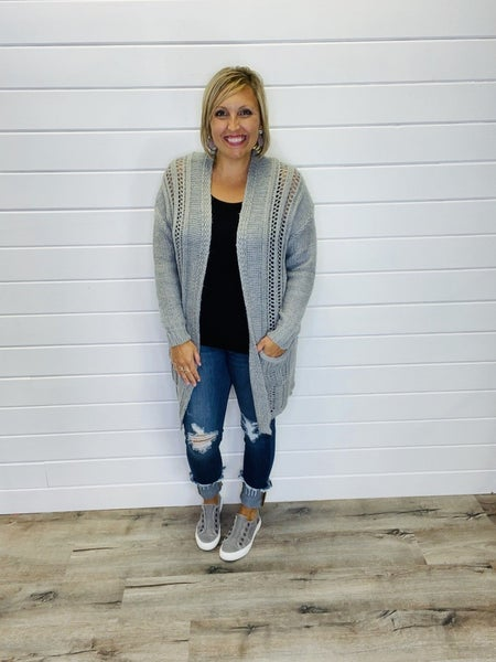 Thru Thick And Thin Sweater Cardi-2 Colors!