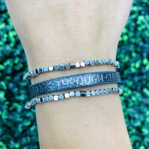 I Can Do All Things Through Christ Bracelet- 2 Colors!