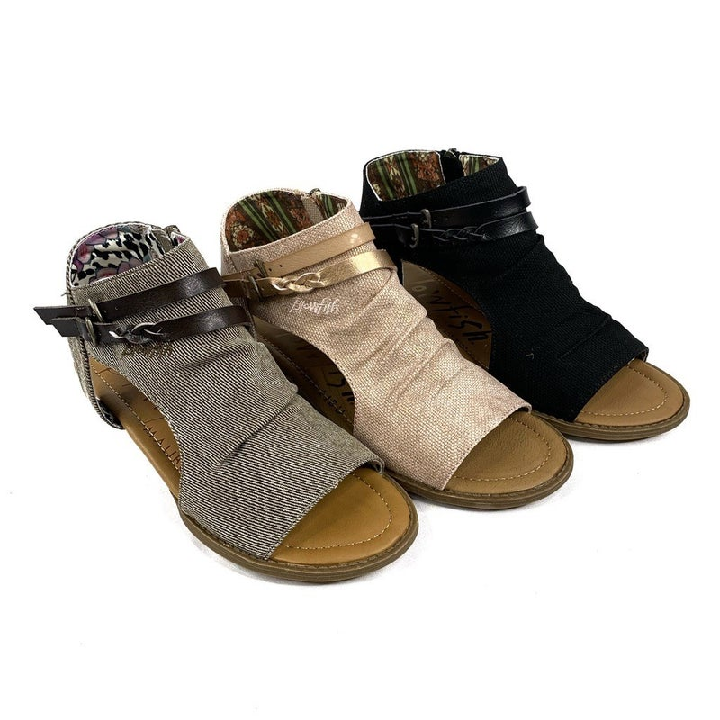 Blowfish Zip Up Braided Canvas Sandal - 3 Colors!