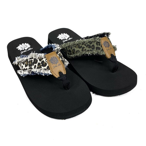 Yellowbox Leopard Flip Flops - 2 Colors!