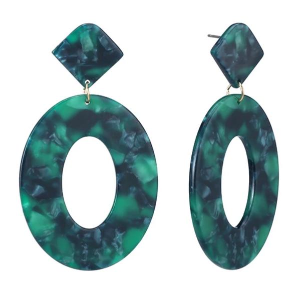 Jade Acrylic Drop Earrings