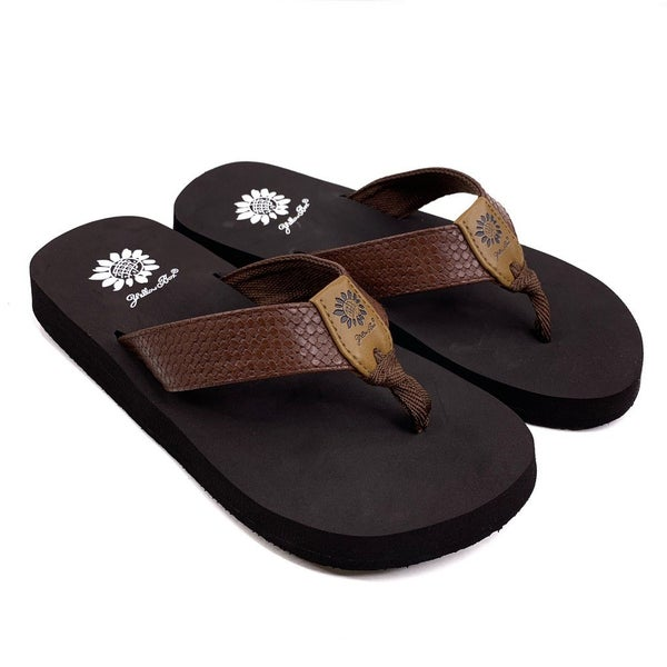 Yellowbox Brown Woven Flip Flop