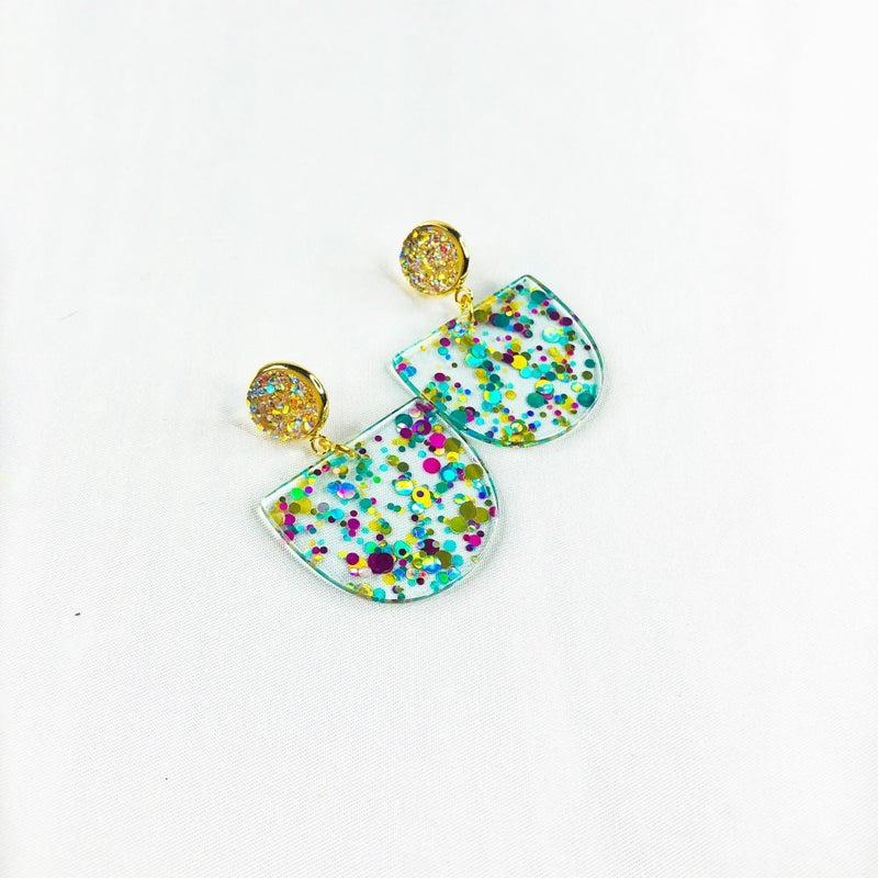 RESTOCK!! Confetti Acrylic Druzy Drop Earrings
