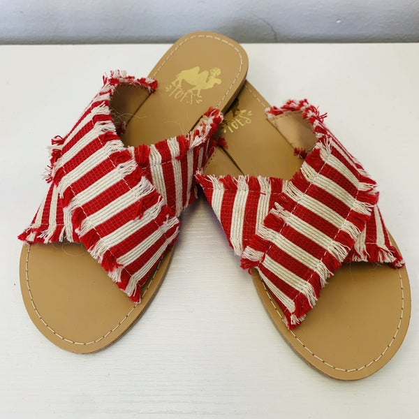 Slide On Criss Cross Summer Sandals in Three Colors
