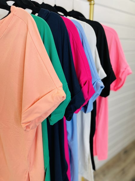 DOORBUSTER PLUS/REG On The Daily Tee- 8 Colors!