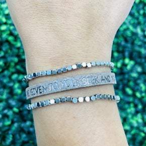 Ask And It Will Be Given To You, Seek And You Will Find Bracelet- 2 Colors!