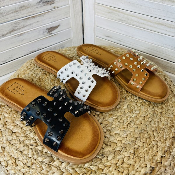 Tell Me About It Stud Slides - 3 Colors!