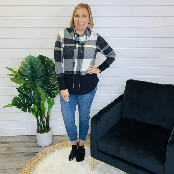 PLUS/REG Best I Ever Plaid Top