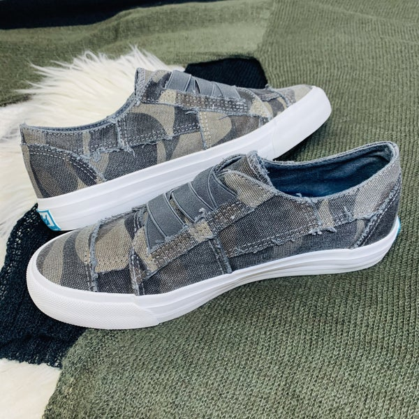 Blowfish Grey Camo Slip On Sneakers