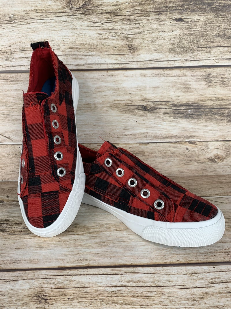 Blowfish Give Me All The Buffalo Plaid Slip On Sneakers