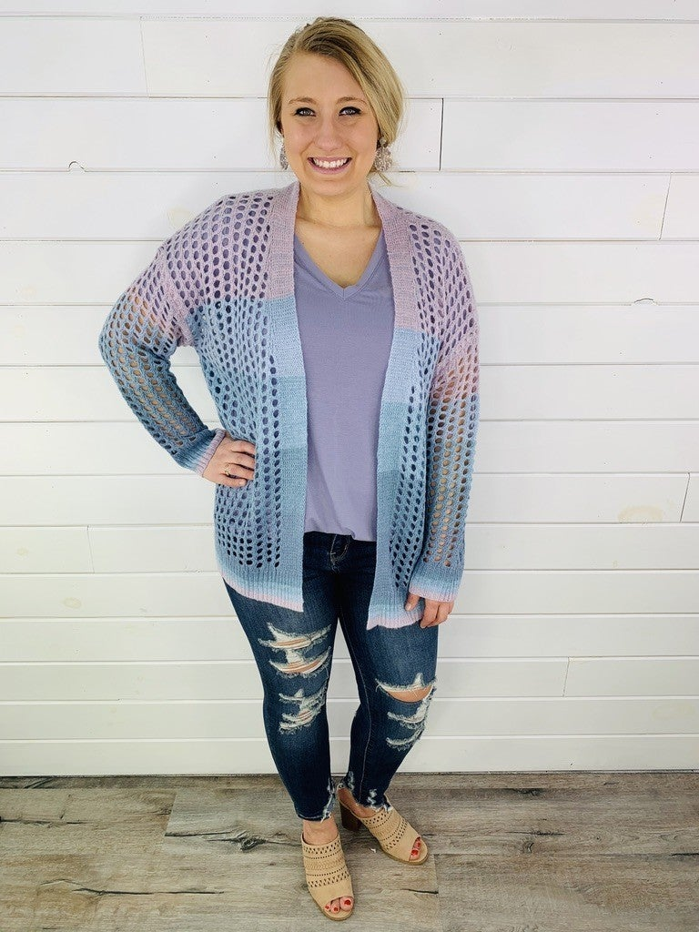 Holey Ombre Oversized Cardigan--3 Colors!