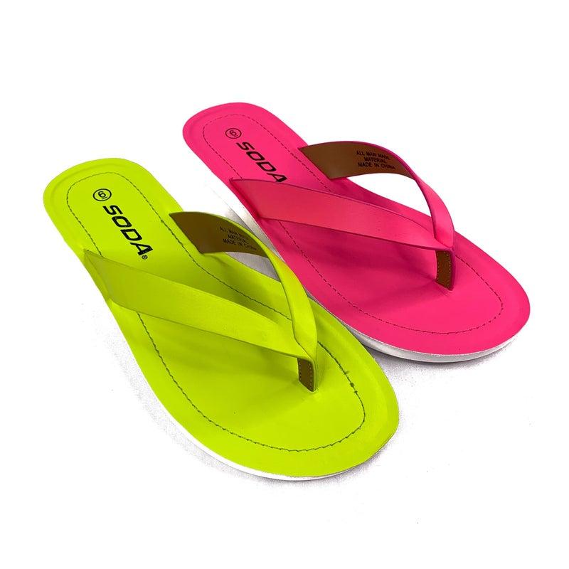 Soda Neon Thong Sandals