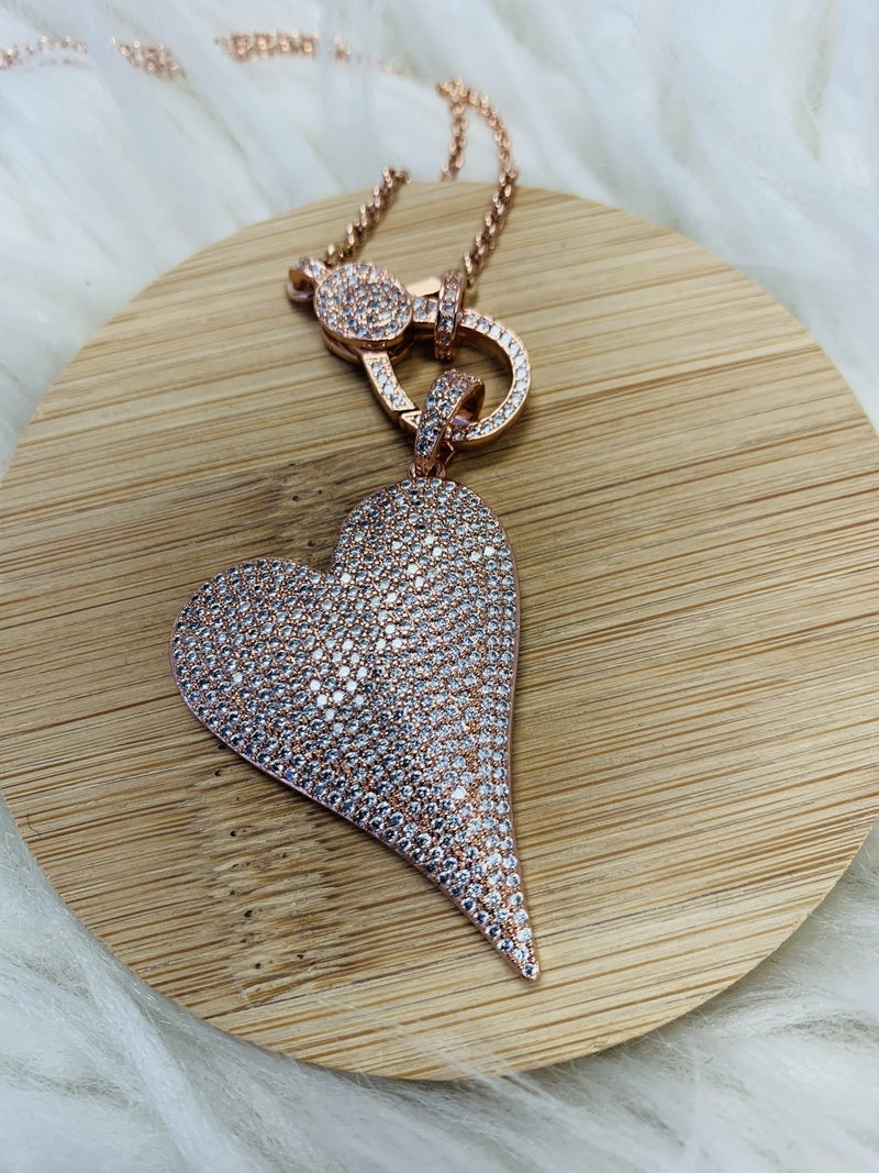 Love Poppy Heart Necklace- 3 Colors!