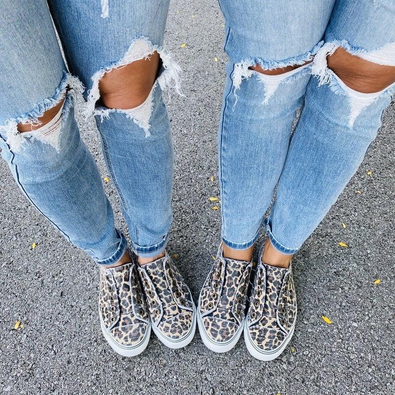 Blowfish Leopard Slip On Sneakers