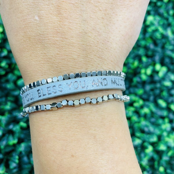 He Will Love You, Bless You, And Multiply You Bracelet- 2 Colors!