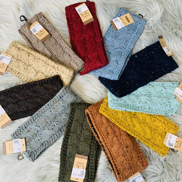 CC Beanie Confetti Knit Head Wrap- 11 Colors!